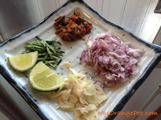 Sambal Matah ingredients