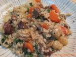 Beef + root veggies + barley soup