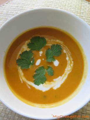 Spicy Dal + Carrot Soup