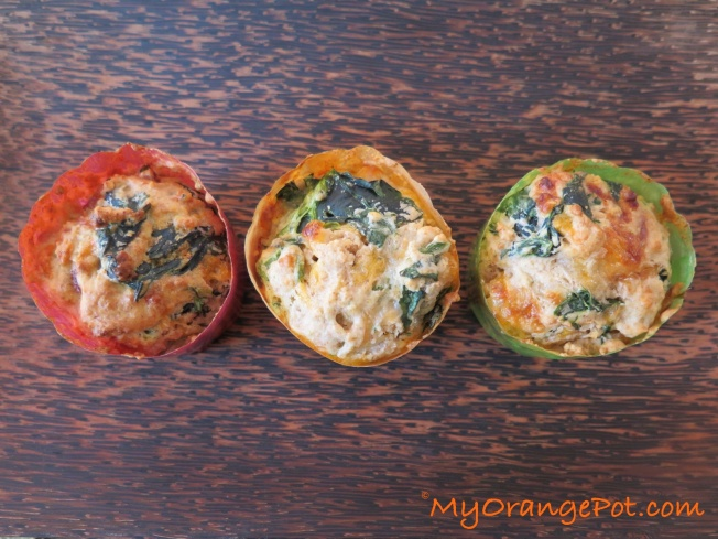 Spinach + 2-cheese savory wholewheat muffin