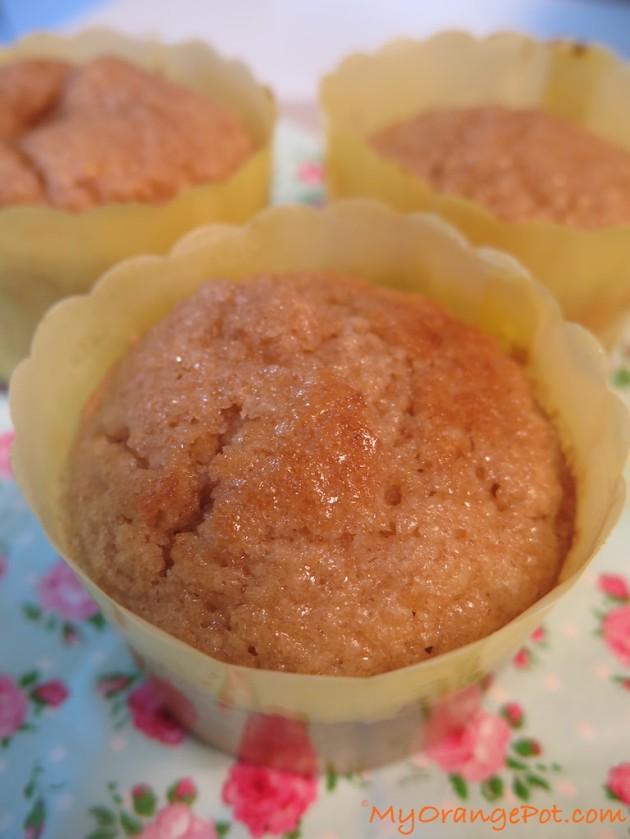 Crunchy lemon Whole Wheat Muffins