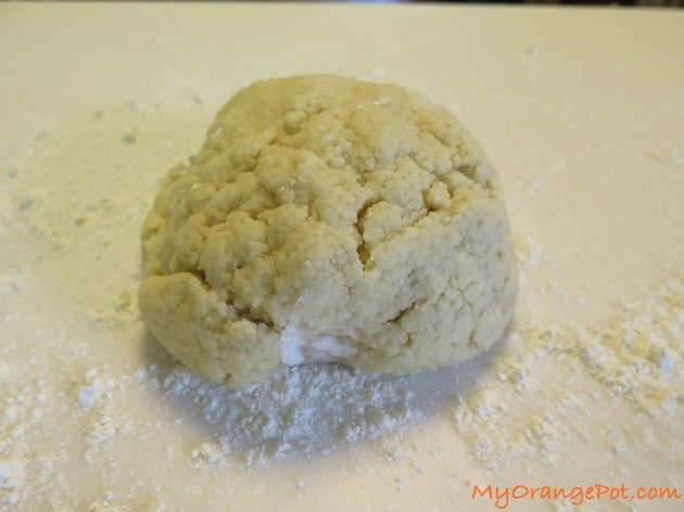 Gather the crumbs like into a dough ball and knead